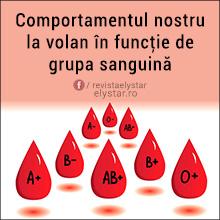 Comportamentul nostru la volan în funcţie de grupa sanguină